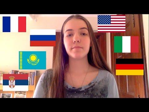 Girl Speaking 7 Languages (with English subtitles)