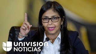 Nicolás Maduro nombra a Delcy Rodríguez como vicepresidenta ejecutiva de Venezuela
