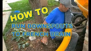 Can a French Drain Take In Gutter Downspout Water?
