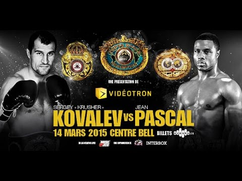 "Sergey ""Krusher"" Kovalev vs. Jean Pascal WEIGH-IN Live"