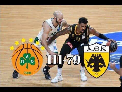 Παναθηναϊκός - ΑΕΚ 111-79 | Στιγμιότυπα - 9η Αγωνιστική Basket League (23/12/2018)