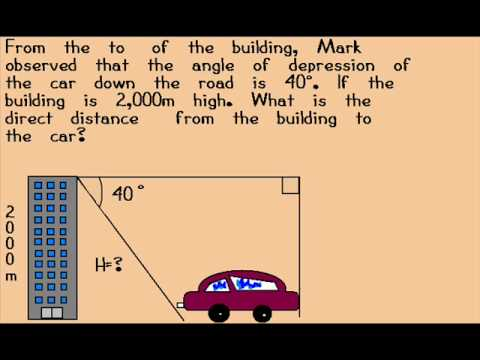 Angle of Elevation and Depression - YouTube
