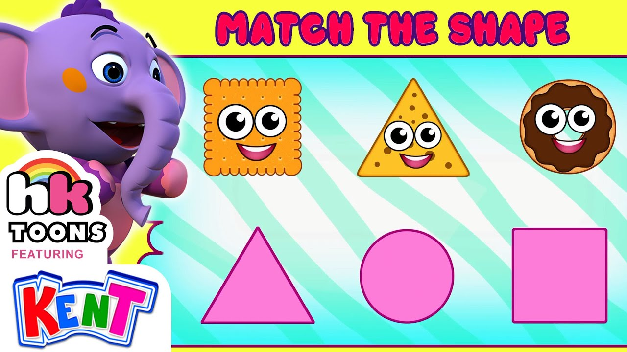 Match The Food with Shapes   Learning Videos For Kids   Hooplakidz Toons