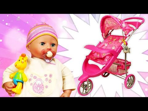 baby-annabell-doll-accessories:-a-stroller-for-baby-dolls-&-baby-born-dolls