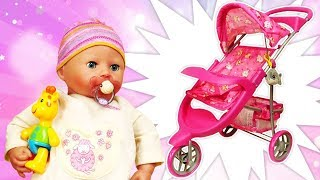 Baby Annabell doll accessories: A stroller for baby dolls & baby born dolls