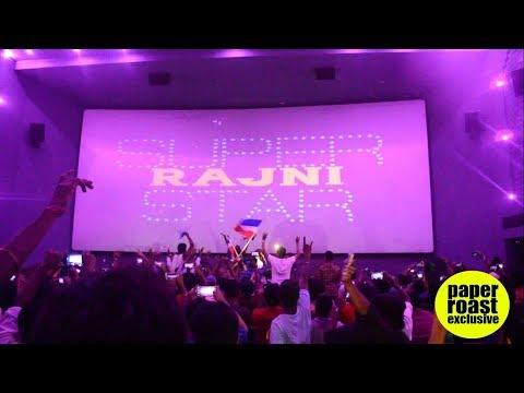 Fans Celebrate SuperStar Rajinikanth's Birthday Like Never Before   Rohini Theatre   12-12-2017