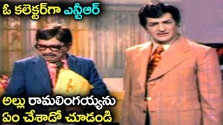 NT Rama Rao, Allu Ramalingaiah Superb Scene | Telugu Excellent Movie Scene | Volga Videos