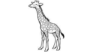 как нарисовать жирафа,how to draw a giraffe,cómo dibujar una jirafa