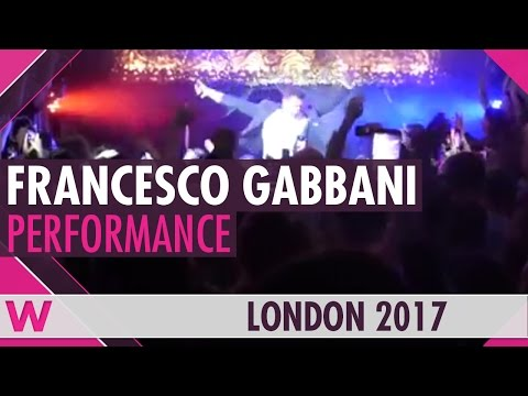 "Francesco Gabbani ""Occidentali's Karma"" (Italy 2017) LIVE @ London Eurovision Party 2017"