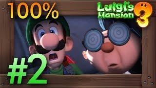 Luigi's Mansion 3: 100% Walkthrough Part 2 - Rescuing Professor E. Gadd & First Boss