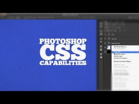 Photoshop's CSS Capabilities