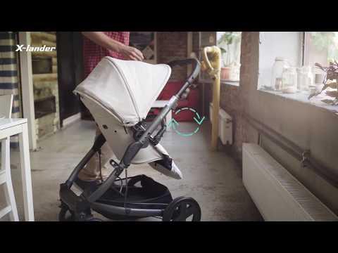 Детская прогулочная коляска X-Lander X-Cite [184262]. Видео №1