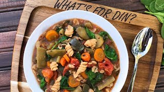 Slow Cooker Vegetable Minestrone Soup | Episode 127