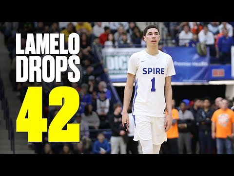 lamelo-ball-goes-off-for-42-points-in-first-playoff-game---full-highlights