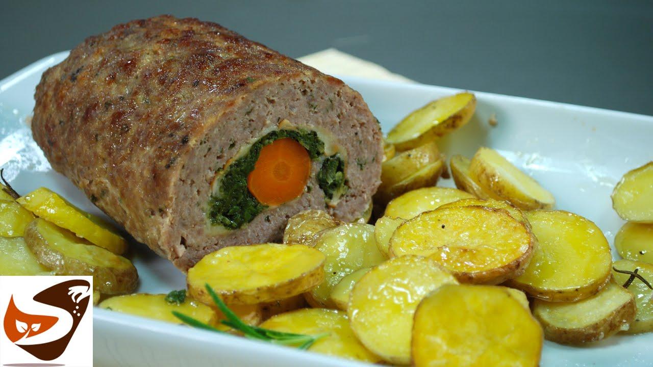 Polpettone ripieno con spinaci carote e patate secondi for Secondi di carne