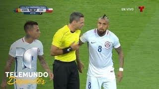 Berrinche de Arturo Vidal ante gol anulado | Copa FIFA Confederaciones Rusia 2017 | Telemundo