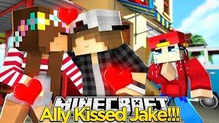 Minecraft Adventure - LITTLE ALLY KISSES JAKE AGAIN!!