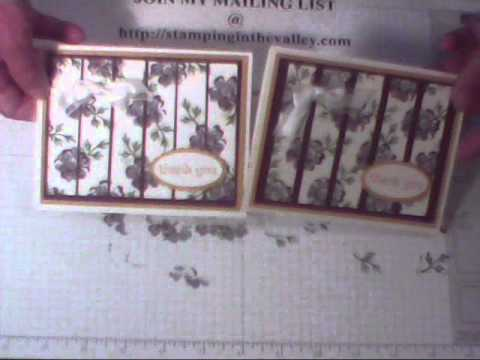 Stampin' Up Vertical Blind Technique with Stippled Blossom Stamp Set