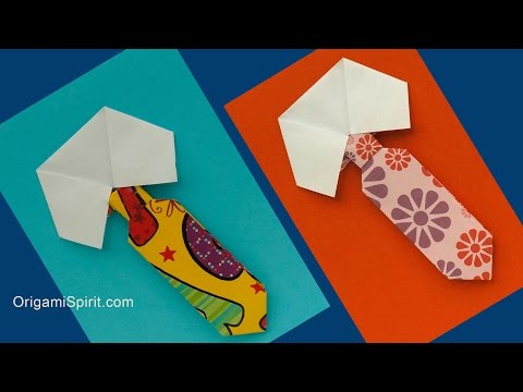 How to Make an Origami Tie and Collar -Father's Day - YouTube