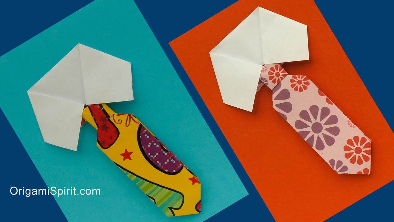 How To Make An Origami Tie And Collar Fathers Day Youtube