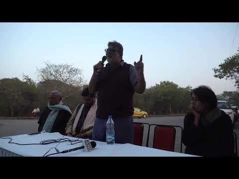Tushar Gandhi : JNUTA Assembly Against Tyranny & Violence At Sabarmati T-point