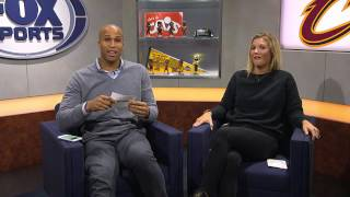Richard jefferson and allie clifton after the cleveland cavaliers big win over the celtics.