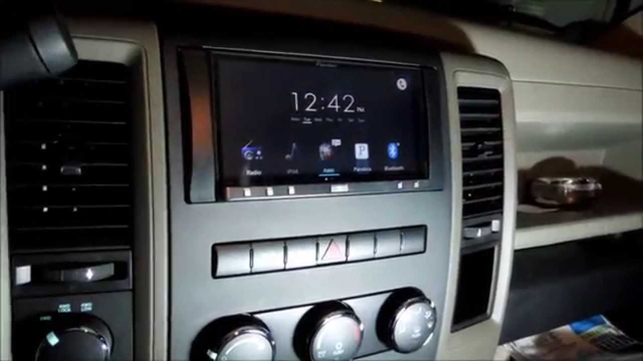 how to install a aftermarket head unit stereo radio in a dodge ram 1500 2013 youtube [ 1280 x 720 Pixel ]