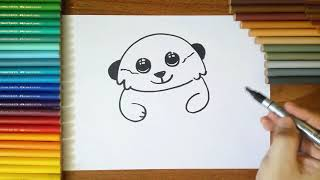 How To Draw a Meerkat step by step for Kids