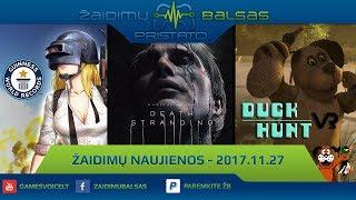 Žaidimų Naujienos 2017.11.27 - PUBG rekordai, Duck Hunt VR ir Konkursas