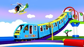 It's Your Day in a Sunny City - Cartoon Toy Train for Kids fun Learning - Toy Factory Train Cartoon