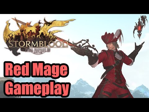 FFXIV: Stormblood - First look at Red Mage! Hands-on gameplay + all actions!