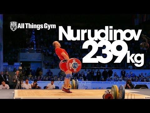 Ruslan Nurudinov (UZB) 239kg Clean & Jerk Almaty 2014 World Weightlifting Championships HD 60P