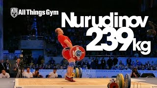 Ruslan Nurudinov (UZB) 239kg Clean & Jerk Almaty 2014 World Weightlifting Championships HD 60P