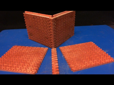 Brick Wall Sections In English Bond's 1/35 Scale Mould Review