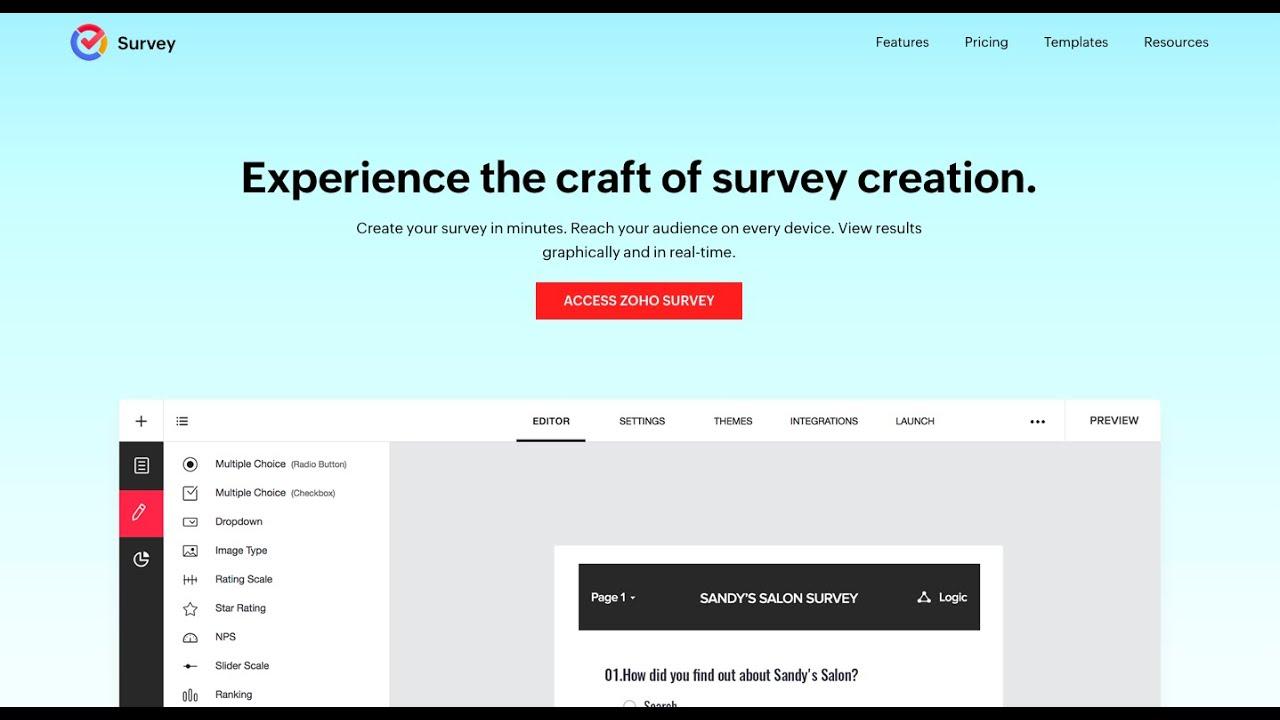 video Zoho Survey