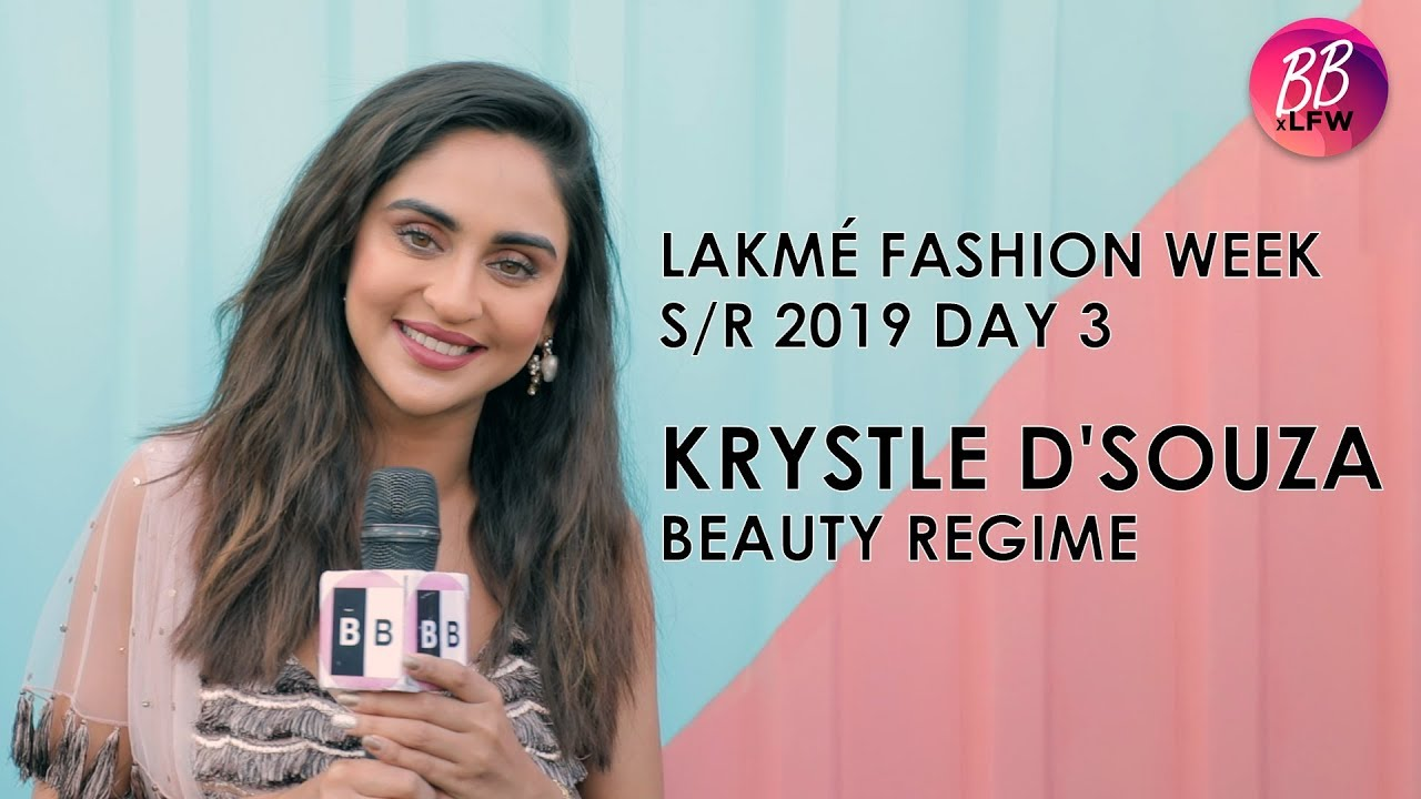 Krystle D'Souza  Shares Her Beauty Regime At Lakme Fashion Week S/R 2019 #Regime
