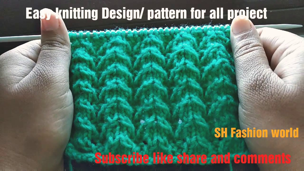 94a52dc980b3 Easy knitting design pattern latest for ladies sweater and gents ...