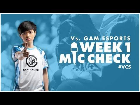 MIC-CHECK SGD [VCS Mùa Xuân 2019][Tuần 1 vs GAM]