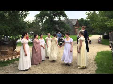 USA traditional dancing at Strawbery Banke Museum in Portsmouth - NH (New Hampshire)