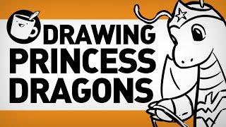 Drawing Princess Dragons