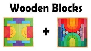 Деревянные Кубики - любимая игра моих детей (Grimm's Basic Building Set)