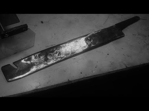 How to make an Apocalyptic Machete from a Lawnmower Blade