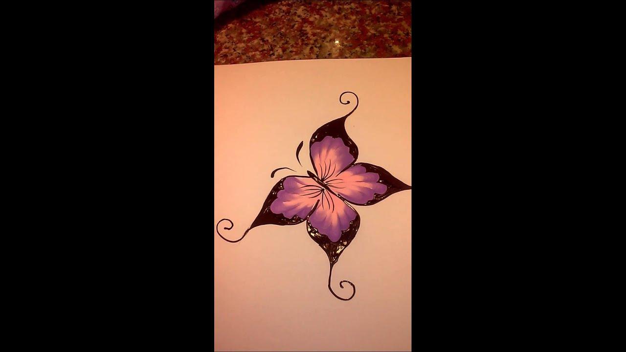 Mariposa pintura acrilica youtube for Pintura para suelos de terrazo