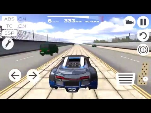 Extreme Car Driving Simulator !!!! Bugatti !!!!!