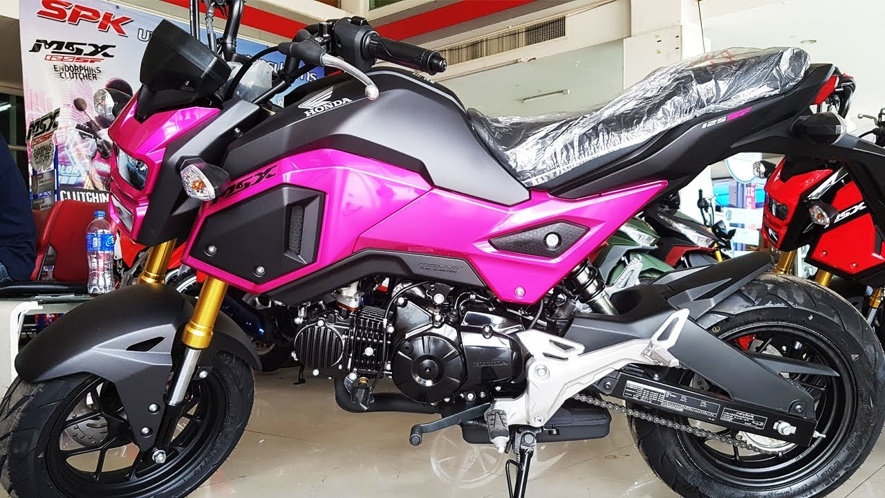honda msx 125 sf 2017 pink youtube. Black Bedroom Furniture Sets. Home Design Ideas