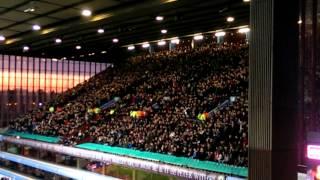 Blades Fans at Villa Park