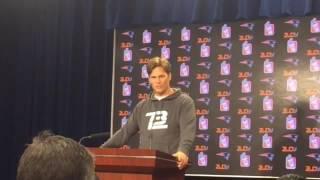 Tom Brady's Last Press Conference Before Suspension