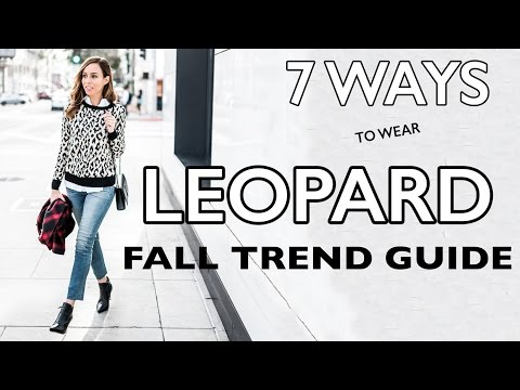 LEOPARD Outfit Ideas I Fall Trend Guide