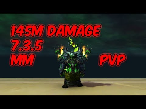 145M Damage - 7 3 5 Marksmanship Hunter PvP - WoW Legion