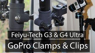 feiyu tech g4 g3 ultra gopro clamps clip